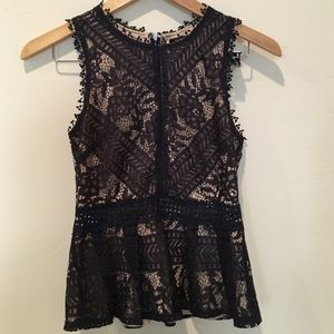 Romeo & Juliet Couture lace peplum tank top